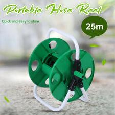 More details for uk 25m portable hose reel storage free standing garden yard watering cart