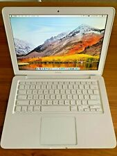 "Apple MacBook White 13"" MC516LL/A  500GB HDD 4GB MAC OS High Sierra 2017 Unibody"