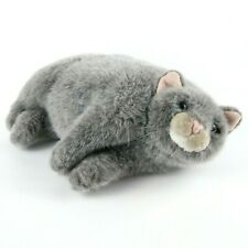 "Fat Cat Plush 14"" Dakin Applause Duchess Kitty Chubby Gray Laying Item 24647"