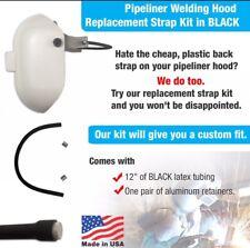 PIPELINER Welding Hood Replacement Black STRAP Kit By WELDLINE