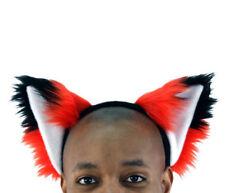 PAWSTAR Furry Fox Ears Headband - halloween Costume Cosplay RED [RD]3060
