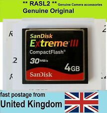 4GB SanDisk Extreme III CF Compact Flash Memory Card For Digital Camera