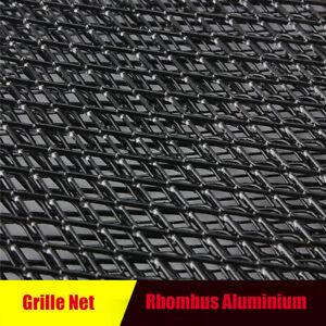 Front Intake Grille Aluminium Rhombus Mesh Car Tuning Grill 12mm* 6mm Black