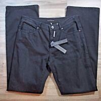 Elie Tahari Nicola Jeans Womens 8 Black Straight Leg $198 A346