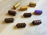 LEGO PARTS - x9 Container- Treasure Chest GOLD BROWN PURPLE