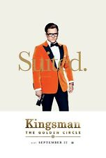 Kingsman The Golden Circle Movie Poster (24x36) - Taron Egerton, Tatum v4