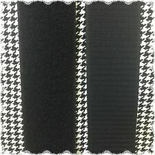 """2"""" Inch HOOK and LOOP Sew On Fastener 3 Yards Black FREE SHIPPING"""