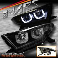 Black 3D DRL LED Bar Projector Head Lights for Toyota HighLander & Kluger 11-13