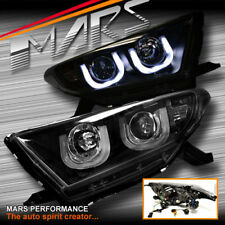 Black 3D DRL LED Bar Projector Head Lights for Toyota HighLander & Kluger 11-13