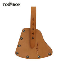 TOURBON Tan Leather Axe Sheath Outdoor Camping Hatchet Cover with Strap New