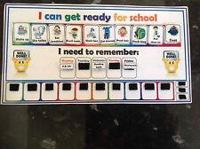 I can get ready for school routine boy pecs starting school chart ASD SEN ADHD