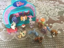 LPS Assorted Pet Lot With Light Up Stage, 8 Vinyl, 1 Plastic