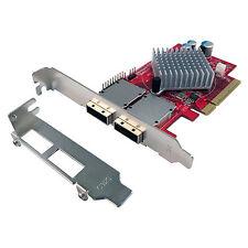 Dual External Mini SAS (8) Ports SAS/SATA (6Gb) PCI Express 8x Gen2 Controller