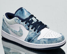Air Jordan 1 Low SE Washed Denim Men's White Midnight Navy Lifestyle Sneakers