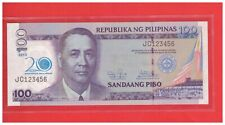 2013 PHILIPPINES 100 peso 20th Anniversary BSP Commemorative Ladder  JC 123456