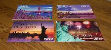 6 Patriotic America the Beautiful DAV Calendars/Landmark Photos/2012-2018