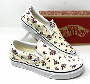 VANS Classic Slip On Ditsy Floral White Women's Sneakers VN0A4U3816Z