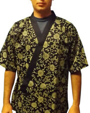 Men Women Sushi Server Uniform Flowers Happi Coat Kimono Sushi Chef Uniform New