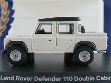 BoS 87096 Land Rover Defender 110 Double Cab Pickup in weiß/schw.1:87/H0 NEU/OVP
