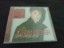 JUSTIN BIEBER UNDER THE MISTLETOE RARE NEW SEALED CHRISTMAS CD !