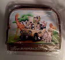 Disney's Animal Kingdom Walt Disney World Kids Khaki Embroidered Coin Purse New