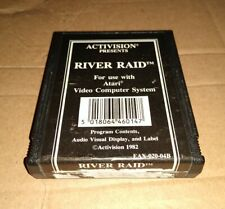 RIVER RAID ! BLACK LABEL ! REGION FREE !  ATARI 2600 + 7800 ! CART ONLY! TESTED!