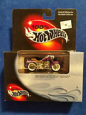 Harley-Davidson Fatboy Motorcycle, 100% Hot Wheels, 1:64, Purple, NEW