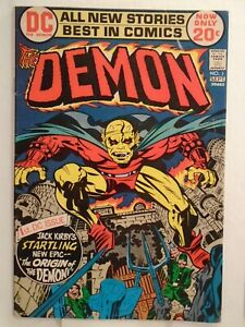 DC THE DEMON #1 (1972) 1st Appearance & Origin, Morgaine Le Fey, Jack Kirby