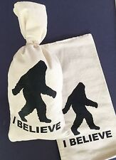 "1 BIG FOOT / SASQUATCH .. Canvas Bag.. Sack..Money Bank Coin Bag  - (9""x17"")^"