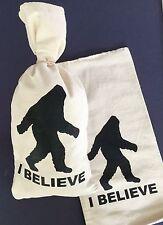 "1 Big Foot / Sasquatch . Canvas Bag. Sack.Money Bank Coin Bag - (9""x17"")^"
