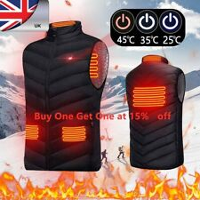 Electric Vest USB Heated Jacket Winter Windproof Body Warmer Gilet Coats UK