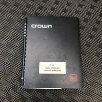 Crown D60 Stereo Power Amplifier Manual and Schematic