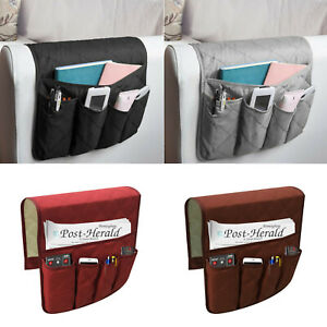 1X Sofa Chair Arm Rest Organiser Tray Armchair Organizer Phone Key Holder 5 Pock