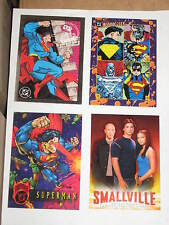 1990'S SUPERMAN PROMO 4 CARD LOT! BLOODLINES FIREPOWER SMALLVILLE WIZARD SKYBOX!