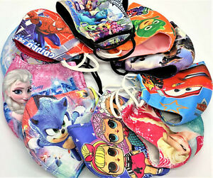 Kids 100% Cotton Face Mask Thick Reuseable Washable Breathable children boy girl