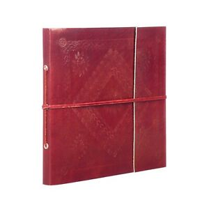Fair Trade Handmade Large Embossed Leather Photo Album 2nd Quality