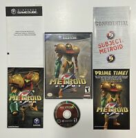 Metroid Prime (Nintendo GameCube, 2004) Complete in Box CIB Tested Black Label