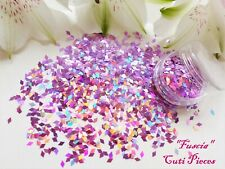 Nail Art Chunky *Fuscia* Pink Diamond Rhombus Holographic Glitter Spangle Pot