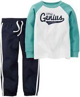 Carters Infant Boys   2pc Set Pants Outfit Size- 9M or 12M NWT (Genius )
