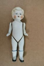 "Vintage Porcelain Bisque Jointed Baby 6"" Doll Figure Wire Joint Made in Japan"