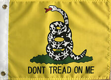 "12"" X 18"" 12x18 Dont Tread on Me Gadsden Boat Flag USA SELLER"