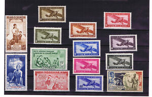French Colonies - Airmail Indochina stamps from 1933 to 1949