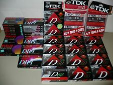 TDK D-60, FUJI DR-I 60, RCA RC 60, NEW Hi-Fi Blank Audio Recording Cassettes LOT