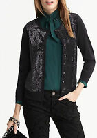 NWT Banana Republic SOLD OUT $98 L'Wren Scott Collection Sequin Cardigan PS,S