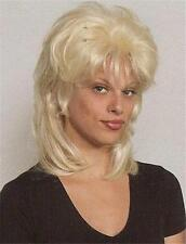 Blonde Shag Shoulder Length Straight Layered Wig w/Bangs