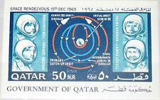 QATAR 1966 Block 8 Gemini Astronauts Space Research Weltraum new currency op MNH
