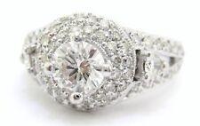 1.65CT ROUND ART DECO ANTIQUE DIAMOND ENGAGEMENT RING