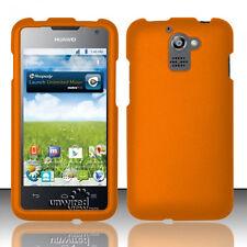 For MetroPCS Huawei Premia M931 Rubberized HARD Snap Phone Cover Case Orange