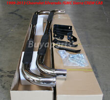 01-12 GMC SIERRA 1500 CREW CAB 4 DR 3' Polished STAINLESS SIDE STEP NERF BARS