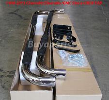 01-12 Chevrolet Silverado 1500 CREW CAB 3' CHROME STAINLESS SIDE STEP NERF BARS